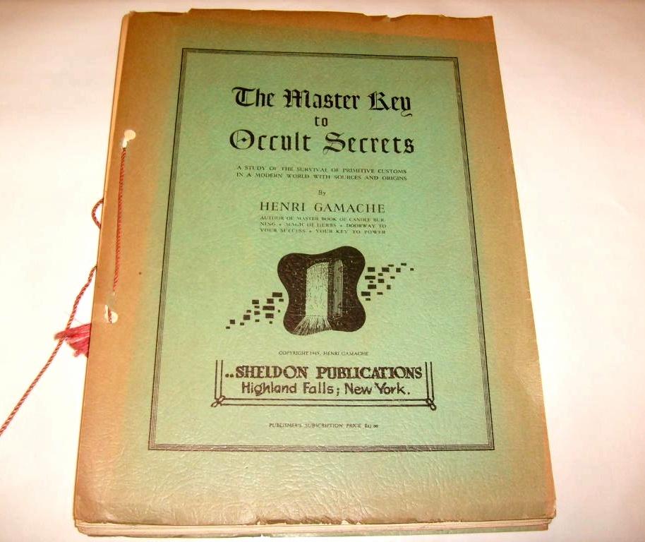 Item 62: THE MASTER KEY TO OCCULT SECRET